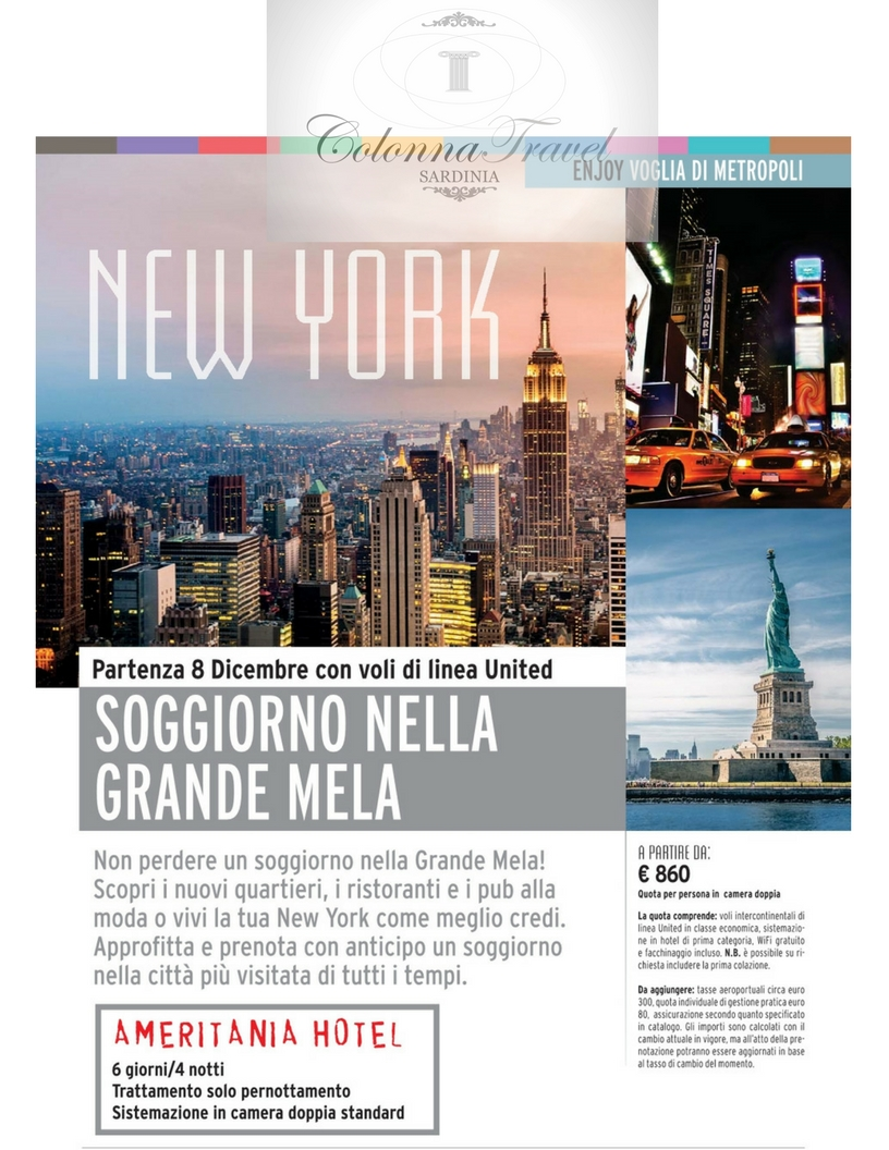 Viaggi a New York | Agenzia viaggi Olbia | Colonna Travel
